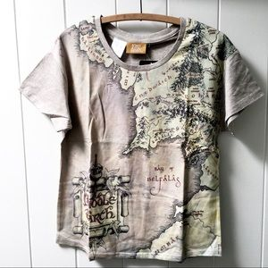 Other - NWT Lord of the Rings Middle Earth Map Shirt M